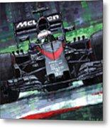 2015 Mclaren Honda F1 Austrian Gp Alonso  Metal Print