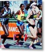 2016 Boston Marathon Winner 2 Metal Print