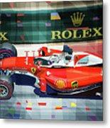 2016 Ferrari Sf16-h Vettel Monaco Gp  Metal Print