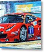 2016 Hankook 24h Epilog Brno Ferrari 488 Gt3 Winner Metal Print