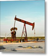 2016_10_pecos Tx_pump Jacks 2 Metal Print
