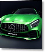 2017 Mercedes Amg Gt R Coupe Sports Car Metal Print