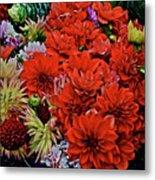 2017 Mid October Monona Farmers' Market Buckets Of Blossoms 1 Metal Print
