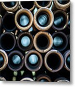 2017_05_drill Pipe Lights 1 Metal Print