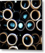 2017_05_midland Tx_drill Pipe Lights 3  Metal Print