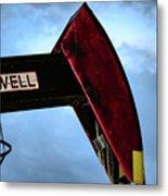 2017_09_midkiff Tx_oil Well Pump Jack Closeup 2 Metal Print