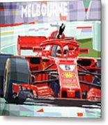 2018 Australian Gp Ferrari Sf71h Vettel Winner  Metal Print