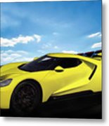 2018 Ford Gt At The Track Metal Print
