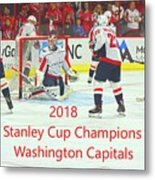 2018 Stanley Cup Champions Washington Capitals Metal Print