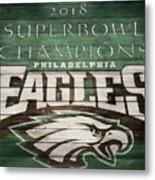2018 Superbowl Eagles Barn Wall Metal Print