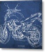 2018 Yamaha Mt07,blueprint,blue Background,fathers Day Gift, 2018 Metal Print