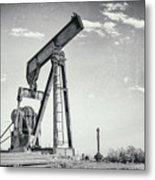 2018_04_orla Texas_broken Pump Jack 1 Metal Print