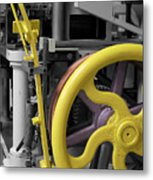 20th Century Mechanical Machinery Sc Metal Print