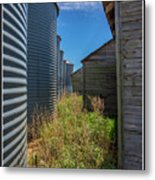 Back Alley On The Prairies Metal Print