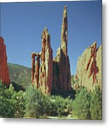 210806-h Spires In Garden Of The Gods Metal Print