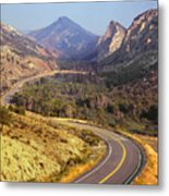 212308 Road To Sheep Creek Canyon Metal Print