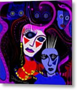 215   Mother And Child  Clowns A  Metal Print