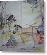 Here Come The Equines Album  Metal Print