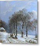 Winter Landscape Metal Print
