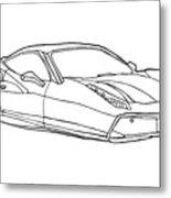 2208 Ferrari Enzo  Metal Print