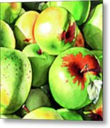 #227 Green Apples Metal Print
