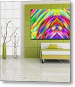 An Example Of Modern Art By Rolf Bertram In An Interior Design Setting Metal Print