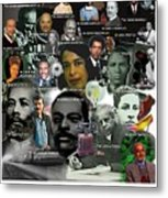 Major Inventors And Scientists Metal Print by Purpose Publishing