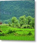 The Beautiful Karst Rural Scenery Metal Print