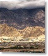 Landscape Of Ladakh Jammu And Kashmir India Metal Print
