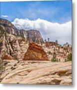 Zion Canyon National Park Utah Metal Print