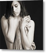 Claudia Nude Fine Art Print In Sensual Sexy Black And White Or S Metal Print