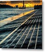 25 De Abril Bridge In Lisbon. Metal Print