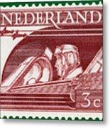 Old Dutch Postage Stamp Metal Print