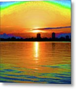 25- Psychedelic Sunrise Metal Print