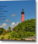 255- Becca Lee - Jupiter Lighthouse Metal Print