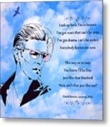 256- David Bowie Metal Print