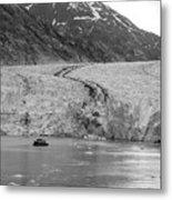 Sawyer Glacier At Tracy Arm Fjord In Alaska Panhandle Metal Print