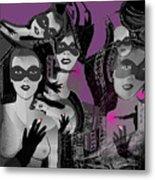 2616 Ladies Masks Man Weapons 2018 Metal Print