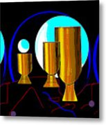 2664 Golden Goblets Patterns 2018 Metal Print