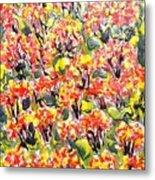 Digital Flower Painting Metal Print