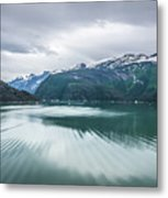 Glacier And Mountains Landscapes In Wild And Beautiful Alaska Metal Print