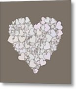 Love Heart Valentine Shape Metal Print