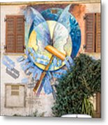 Mural Painting In Saludecio Metal Print