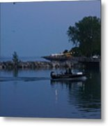 Racine Coastal Seascape - Michigan Lake In Wisconsin By Adam Asar Metal Print