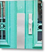 Blue Door Metal Print