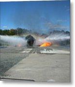 Firefighting Metal Print