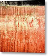 Yacht Hull Erosion Patterns Metal Print
