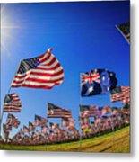 Pepperdine Flag Salute Metal Print