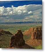 2d10338 Thunderhead Over Independence Monument Metal Print