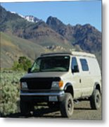 2da5944-dc Our Sportsmobile At Steens Mountain Metal Print